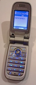 My old phone, as taken by my new phone.
