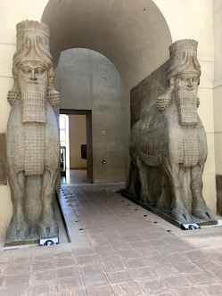 These winged, human-headed Sumerian bulls weigh something like 28 tons each.